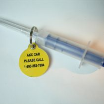 Microchip and AKC CAR collar tag